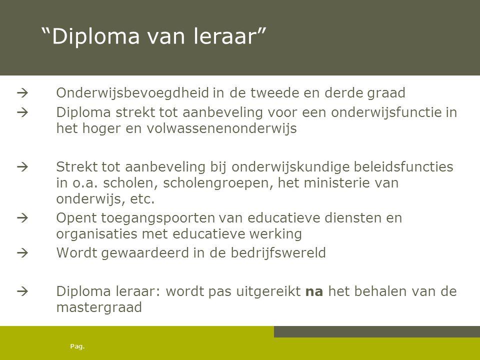 Diploma van leraar Onderwijsbevoegdheid in de tweede en derde graad