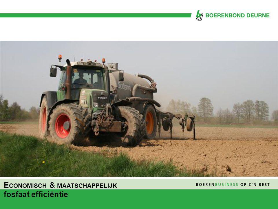 Economisch & maatschappelijk fosfaat efficiëntie