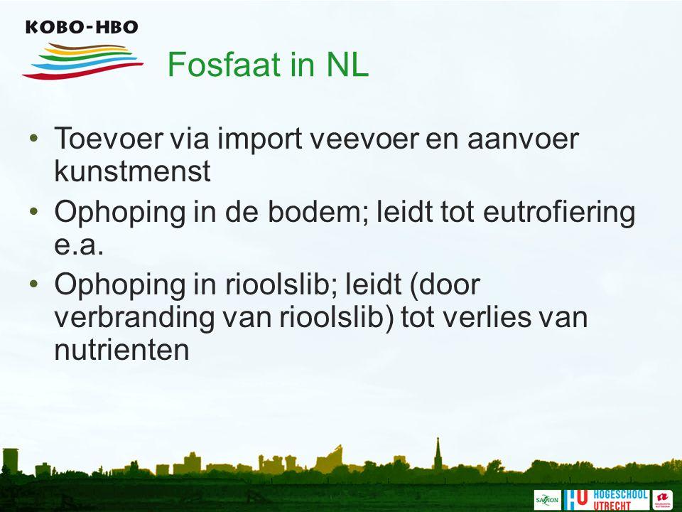 Fosfaat in NL Toevoer via import veevoer en aanvoer kunstmenst