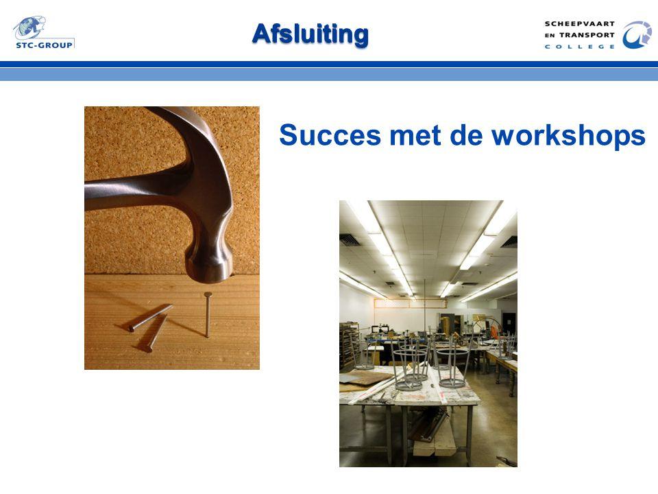 Succes met de workshops