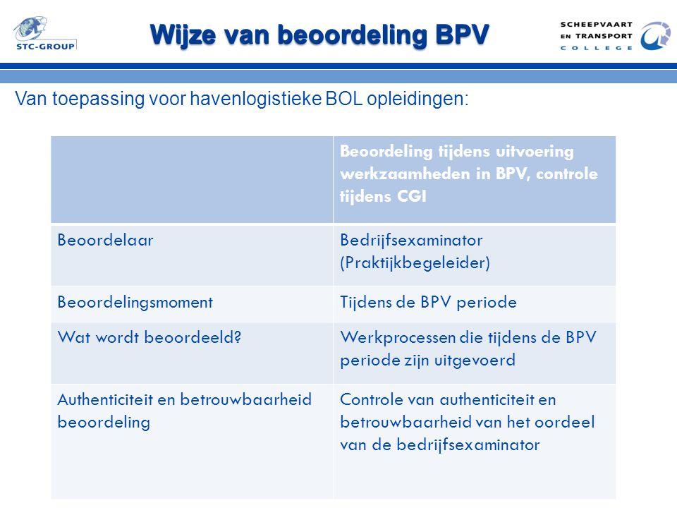 Wijze van beoordeling BPV
