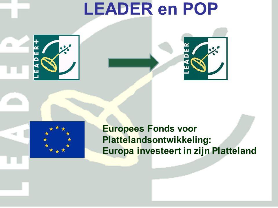 LEADER en POP Europees Fonds voor Plattelandsontwikkeling: