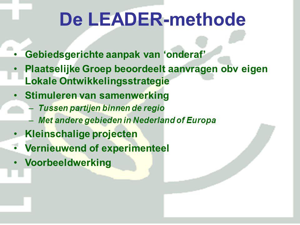 De LEADER-methode Gebiedsgerichte aanpak van 'onderaf'