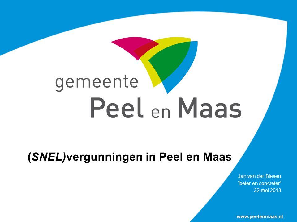(SNEL)vergunningen in Peel en Maas