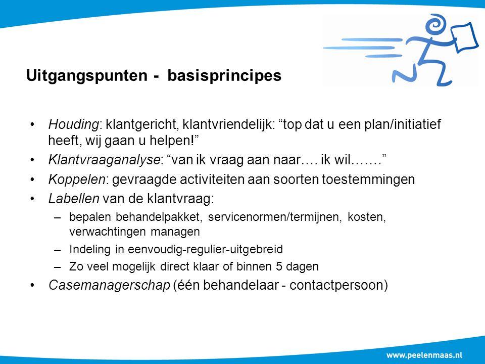 Uitgangspunten - basisprincipes