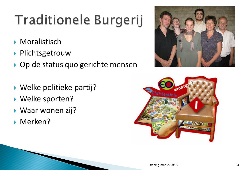 Traditionele Burgerij
