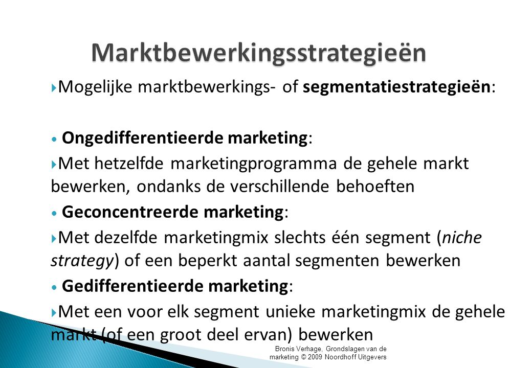 Marktbewerkingsstrategieën