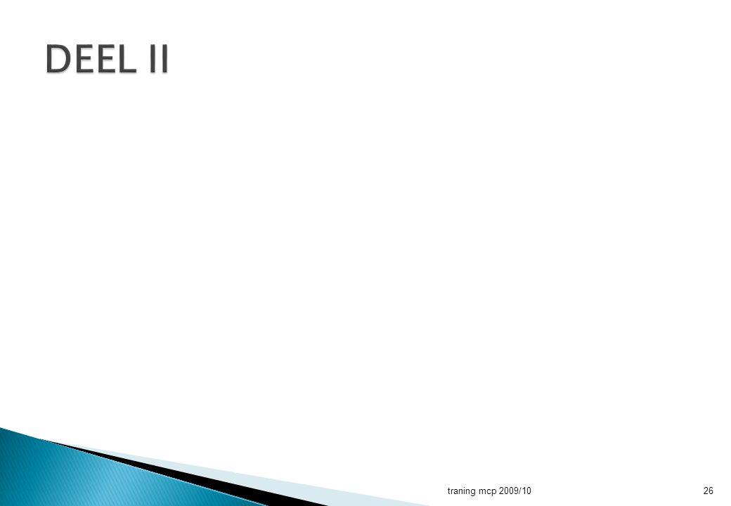 DEEL II traning mcp 2009/10