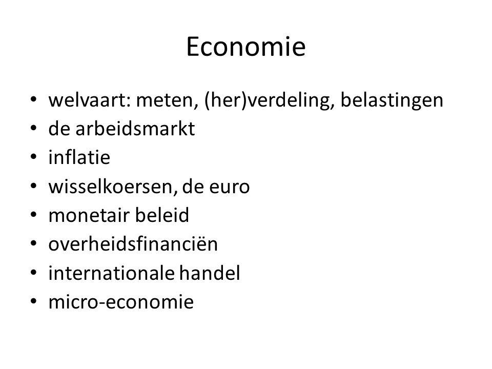 Economie welvaart: meten, (her)verdeling, belastingen de arbeidsmarkt