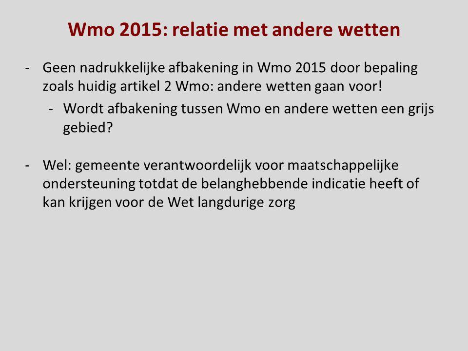 Wmo 2015: relatie met andere wetten