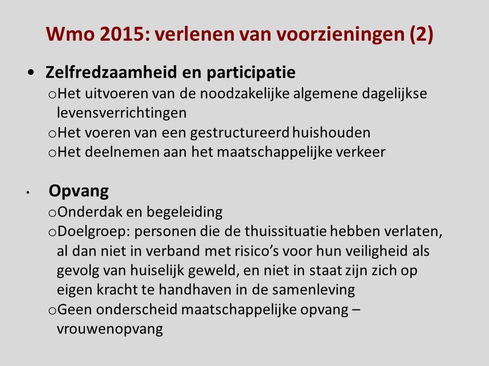 Wmo 2015: verlenen van voorzieningen (2)