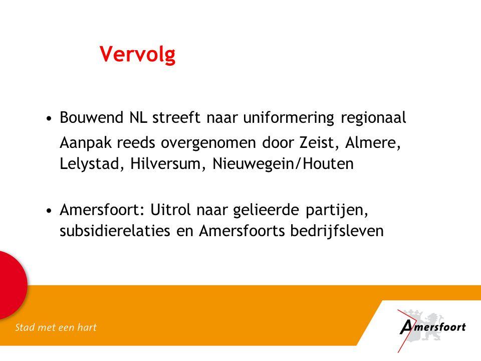 Vervolg Bouwend NL streeft naar uniformering regionaal