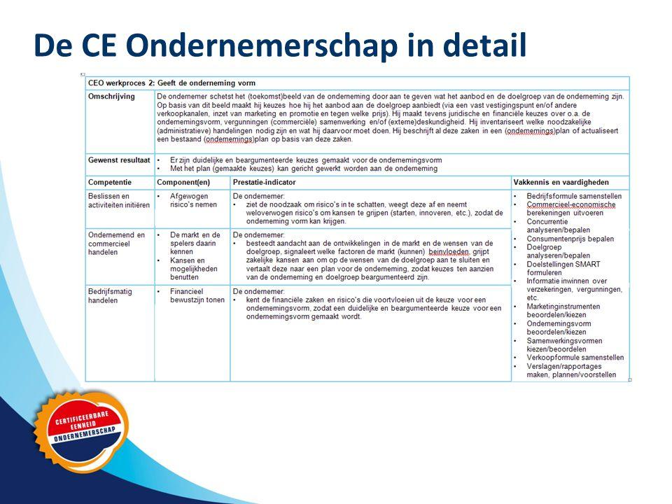 De CE Ondernemerschap in detail