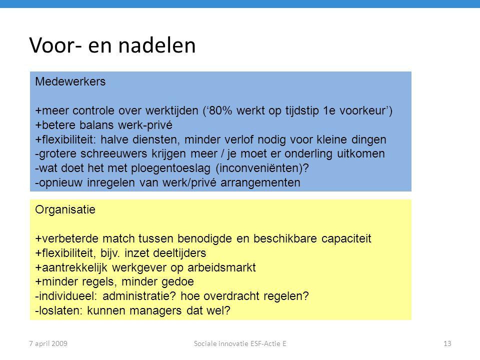 Sociale innovatie ESF-Actie E