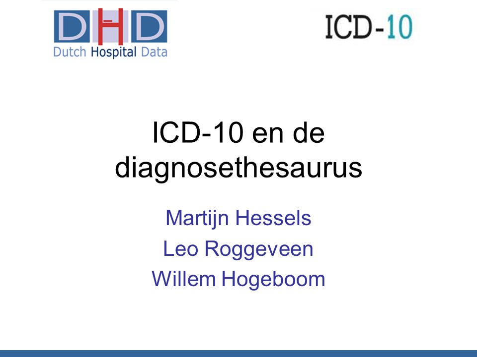 ICD-10 en de diagnosethesaurus
