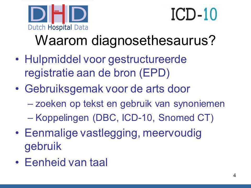 Waarom diagnosethesaurus