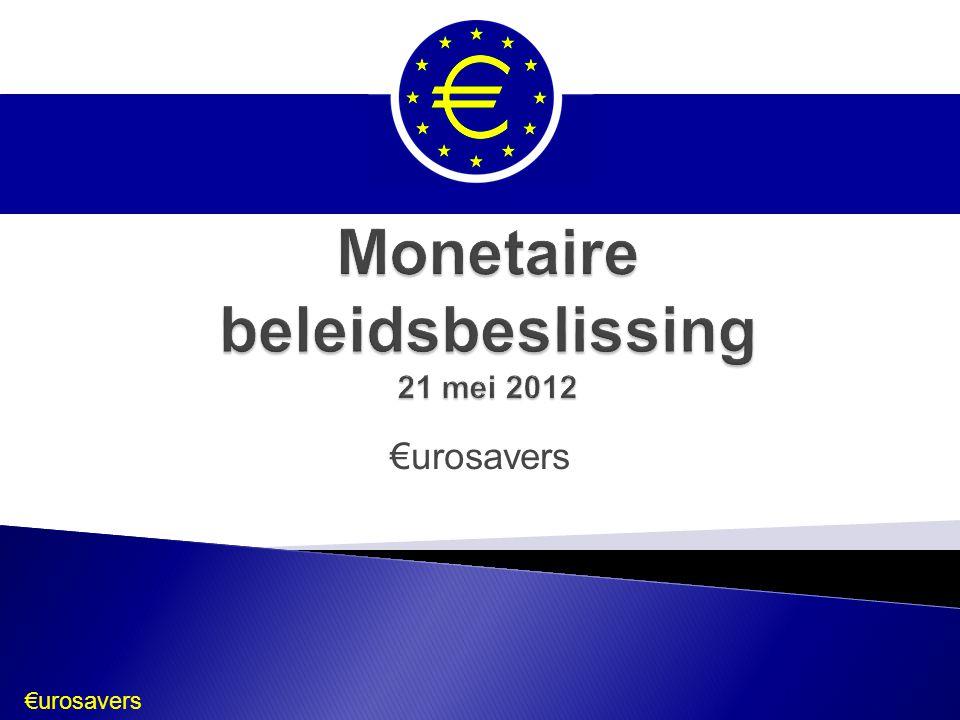 Monetaire beleidsbeslissing 21 mei 2012