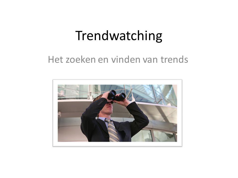 Het zoeken en vinden van trends