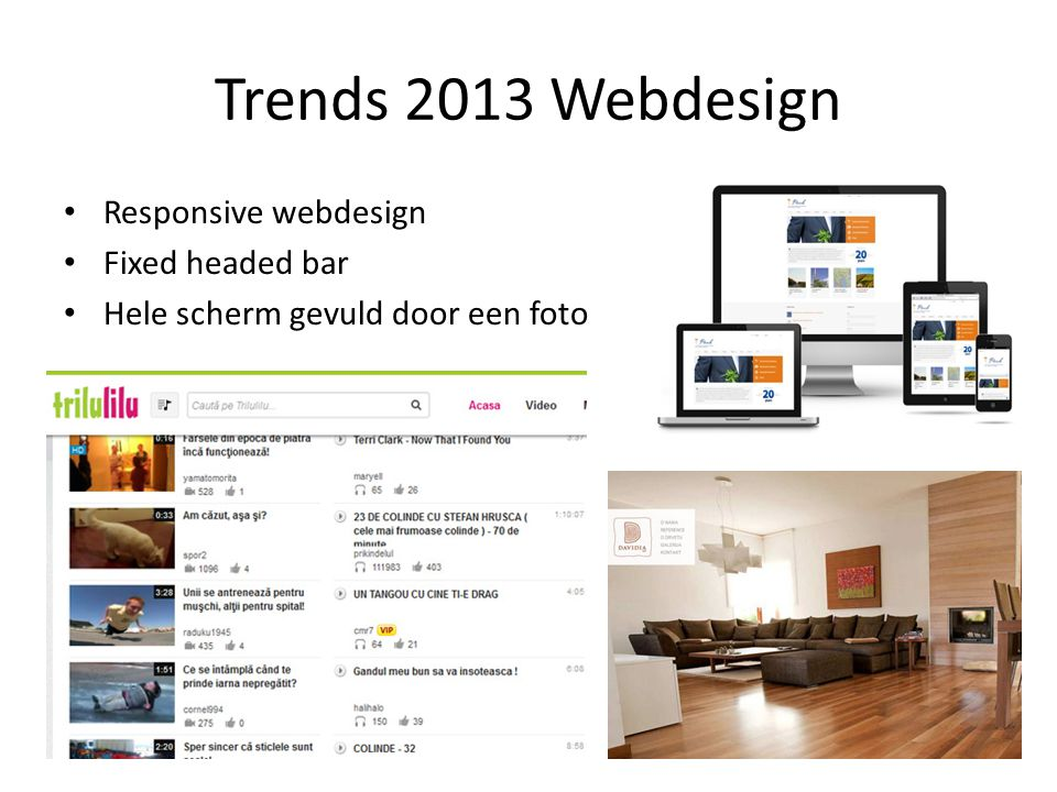 Trends 2013 Webdesign Responsive webdesign Fixed headed bar