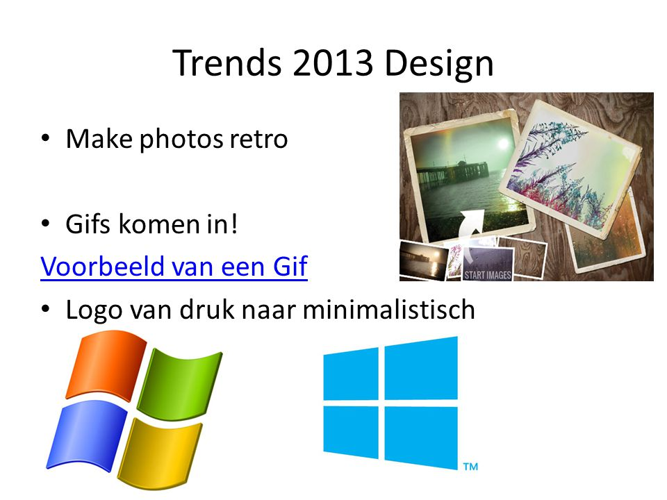Trends 2013 Design Make photos retro Gifs komen in!