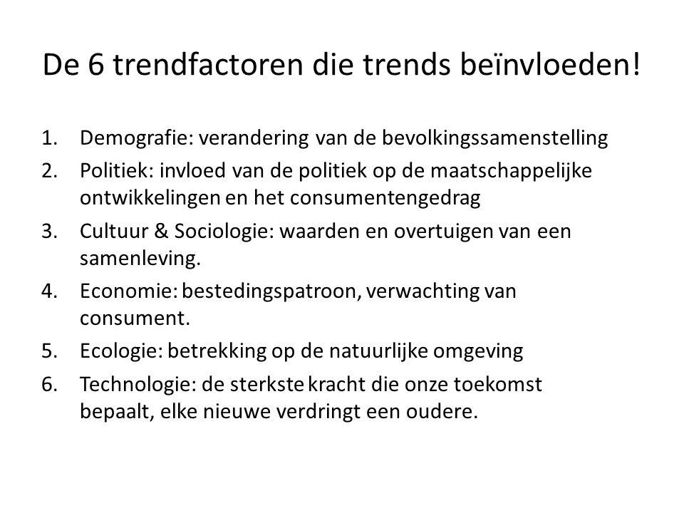 De 6 trendfactoren die trends beïnvloeden!