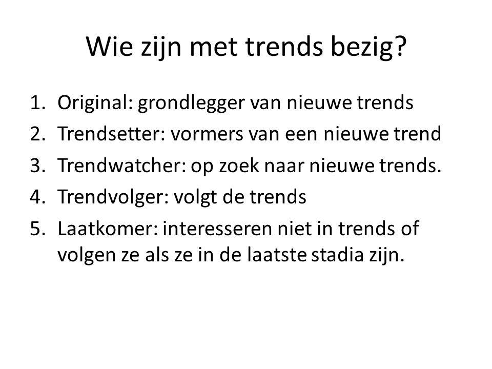 Wie zijn met trends bezig