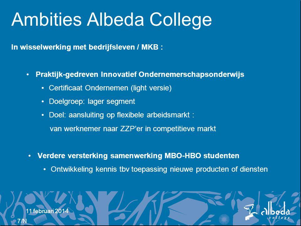 Ambities Albeda College