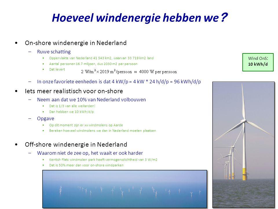 Hoeveel windenergie hebben we