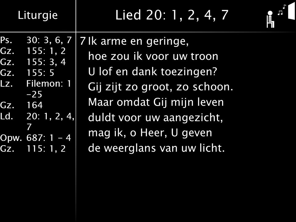 Lied 20: 1, 2, 4, 7