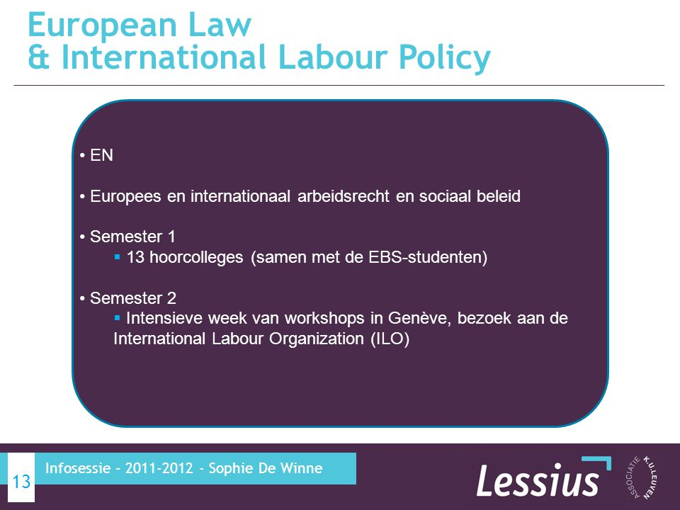 European Law & International Labour Policy