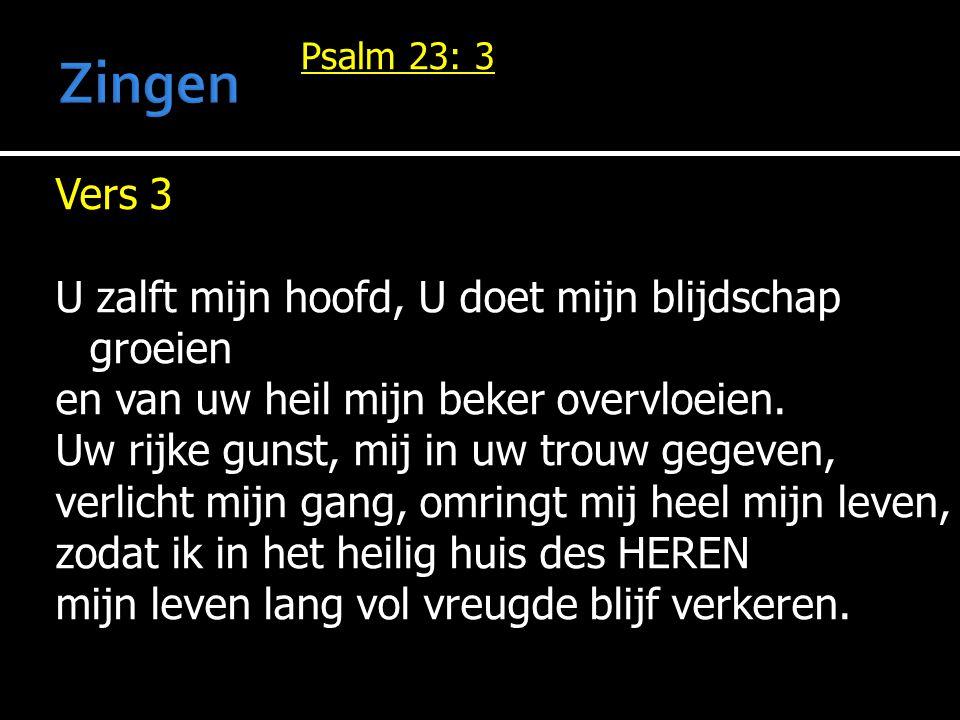 Zingen Psalm 23: 3.