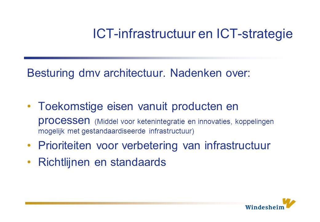 ICT-infrastructuur en ICT-strategie
