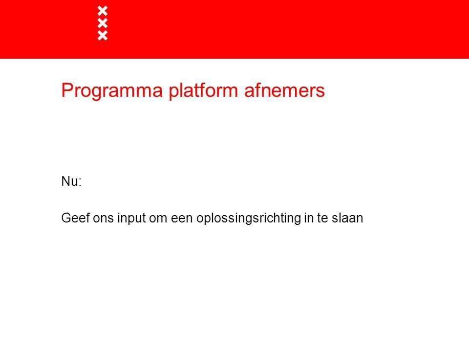 Programma platform afnemers
