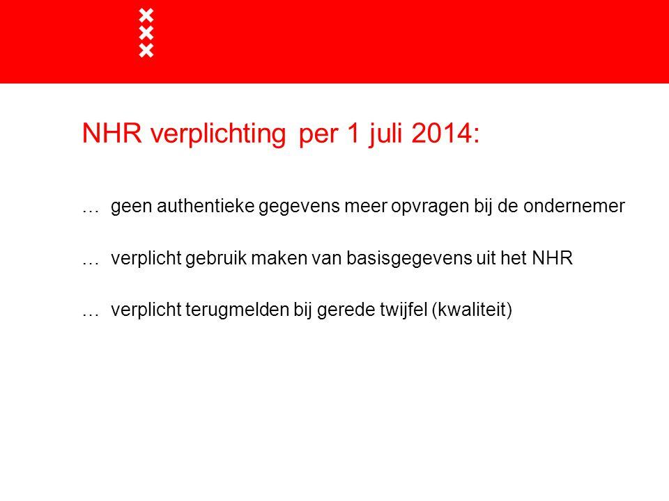 NHR verplichting per 1 juli 2014: