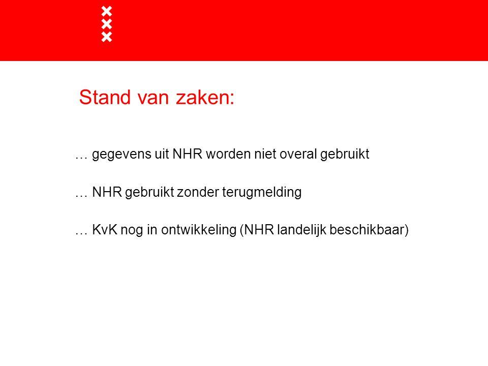 Stand van zaken: … gegevens uit NHR worden niet overal gebruikt