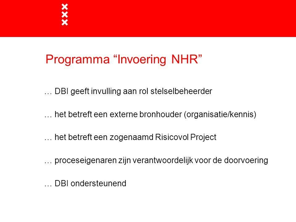 Programma Invoering NHR