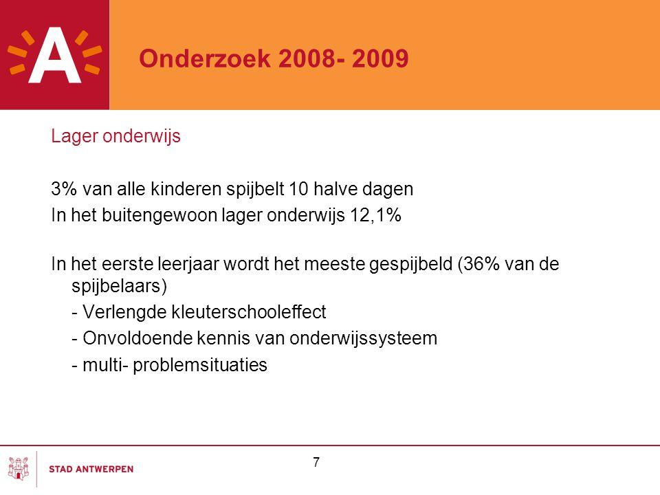 Onderzoek 2008- 2009 Lager onderwijs