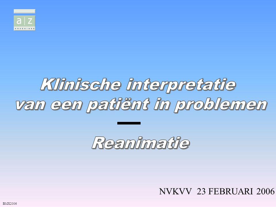 Klinische interpretatie van een patiënt in problemen Reanimatie