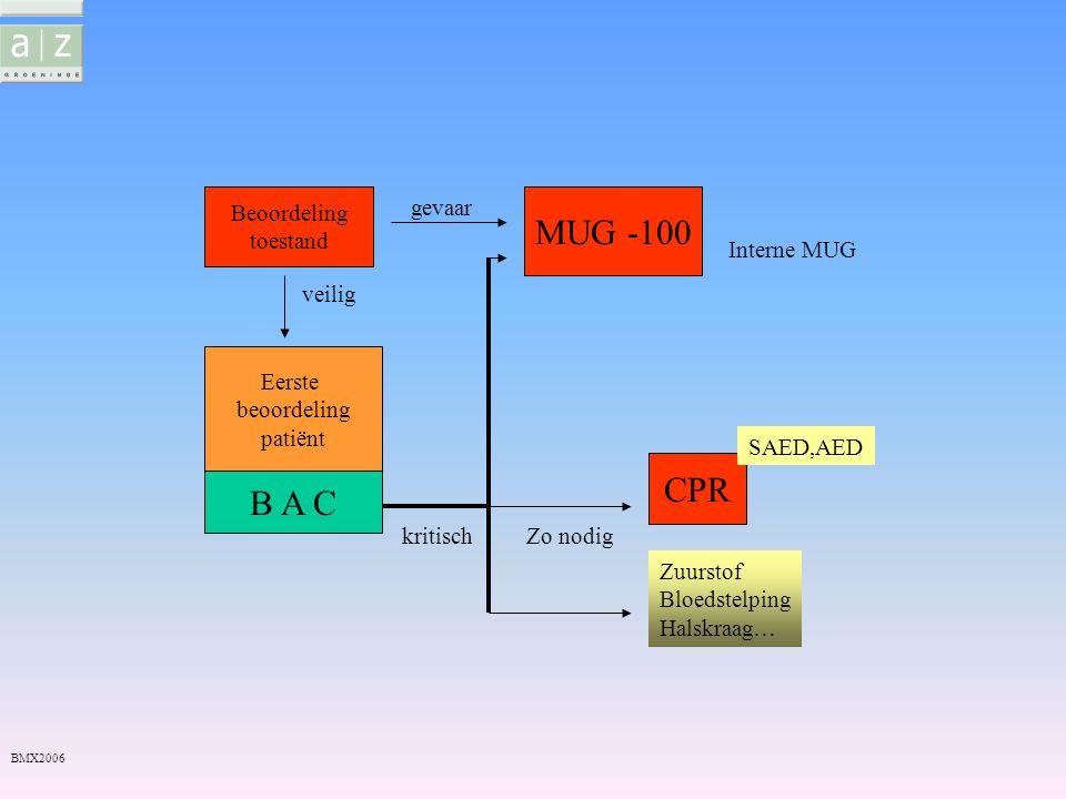 MUG -100 CPR B A C Beoordeling toestand gevaar Interne MUG veilig