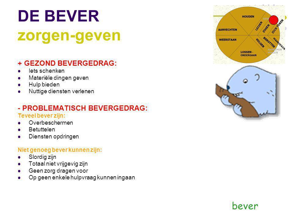 DE BEVER zorgen-geven bever + GEZOND BEVERGEDRAG: