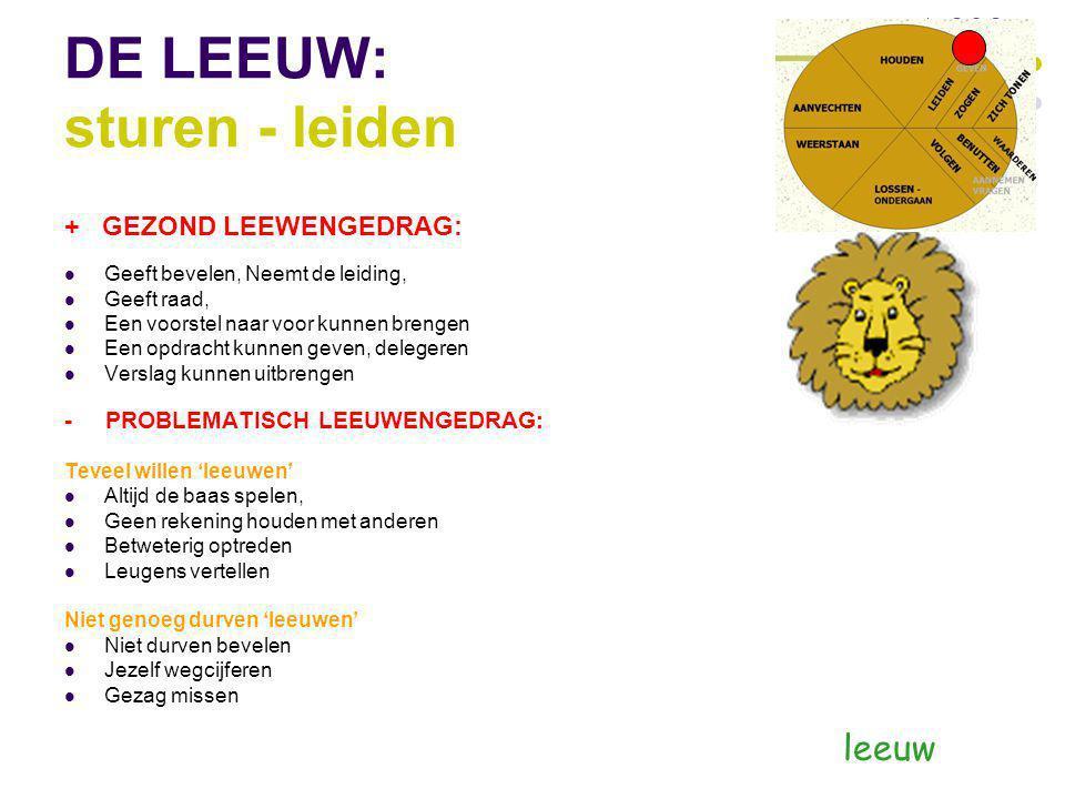 DE LEEUW: sturen - leiden