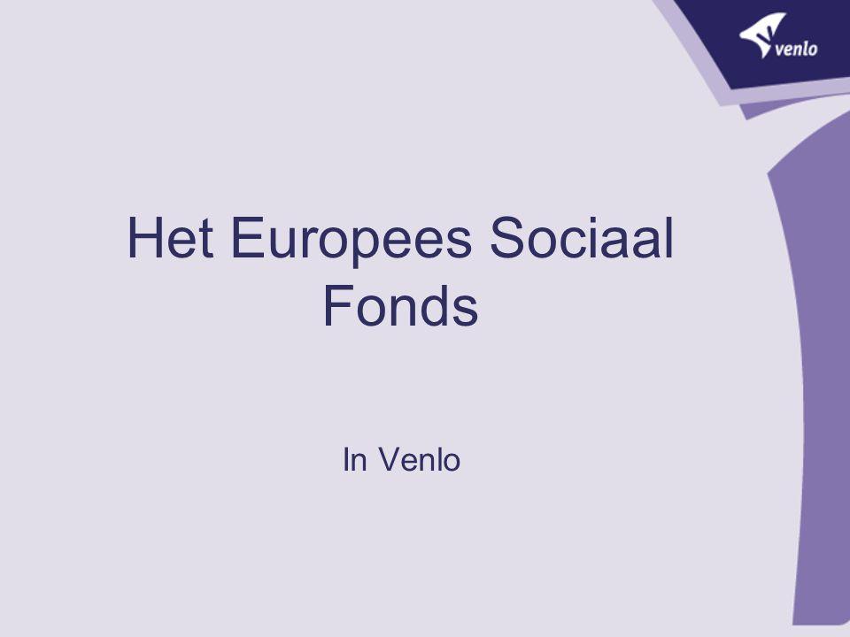 Het Europees Sociaal Fonds