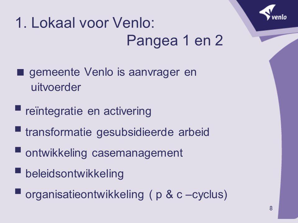 1. Lokaal voor Venlo: Pangea 1 en 2