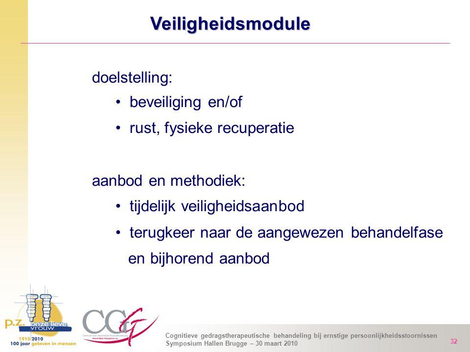 Veiligheidsmodule doelstelling: beveiliging en/of