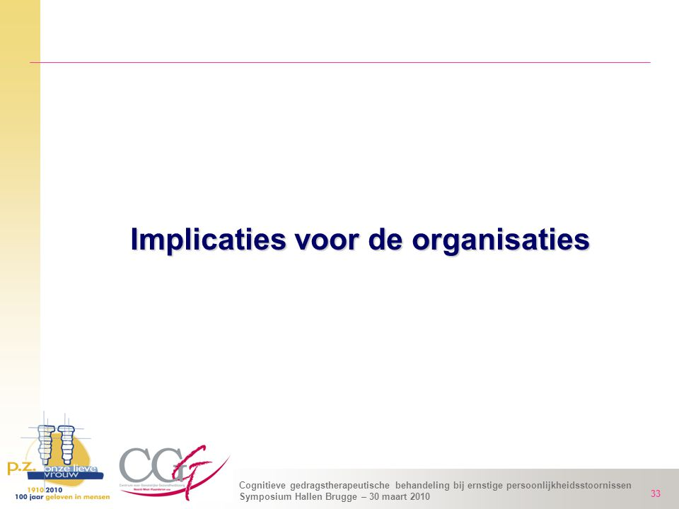 Implicaties voor de organisaties