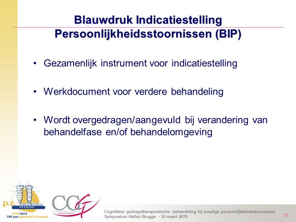 Blauwdruk Indicatiestelling Persoonlijkheidsstoornissen (BIP)