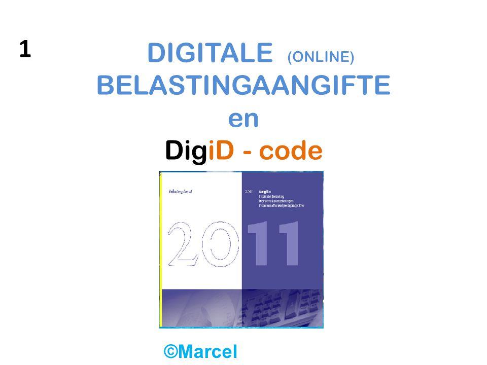 DIGITALE (ONLINE) BELASTINGAANGIFTE en DigiD - code