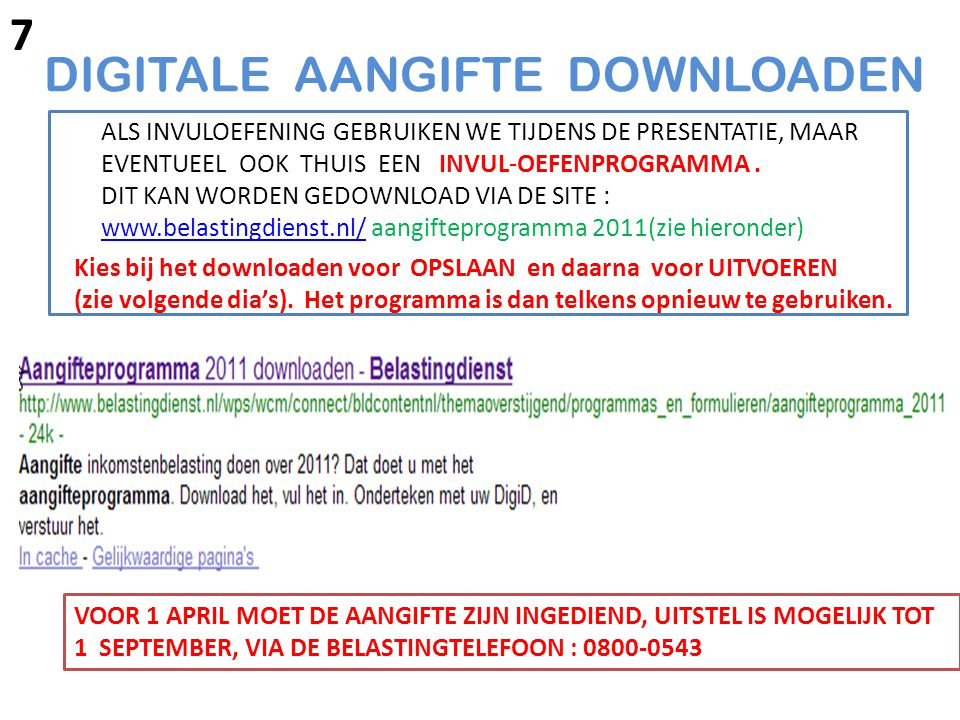 DIGITALE AANGIFTE DOWNLOADEN