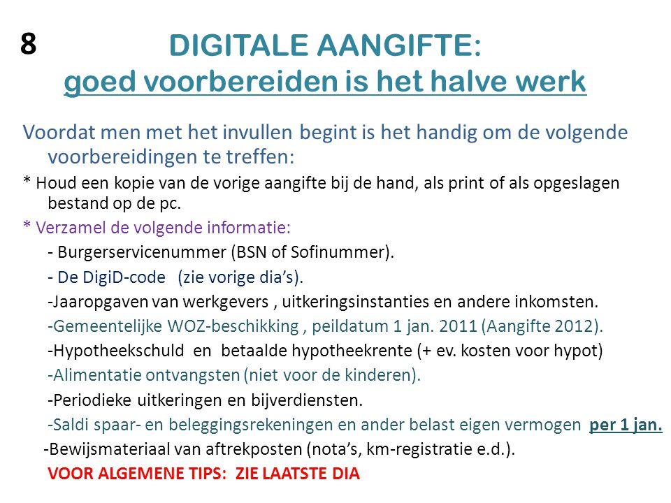 Digitale online belastingaangifte en digid code ppt video online download - Handig saldi ...