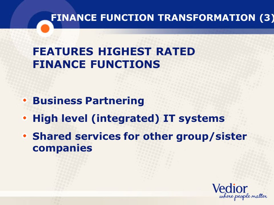 FINANCE FUNCTION TRANSFORMATION (3)
